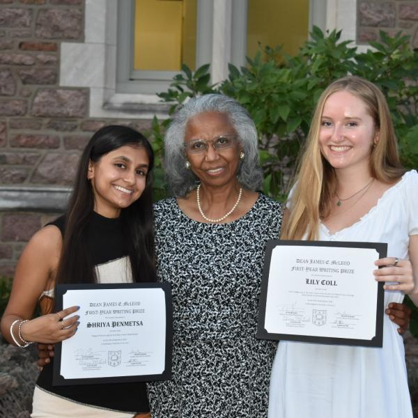 Lily Coll and Shriya Penmetsa named 2021 recipients of McLeod Writing Prize